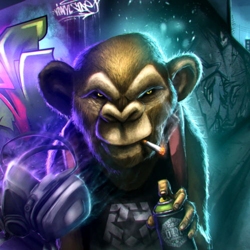 Graffiti Monkey by chrisflores
