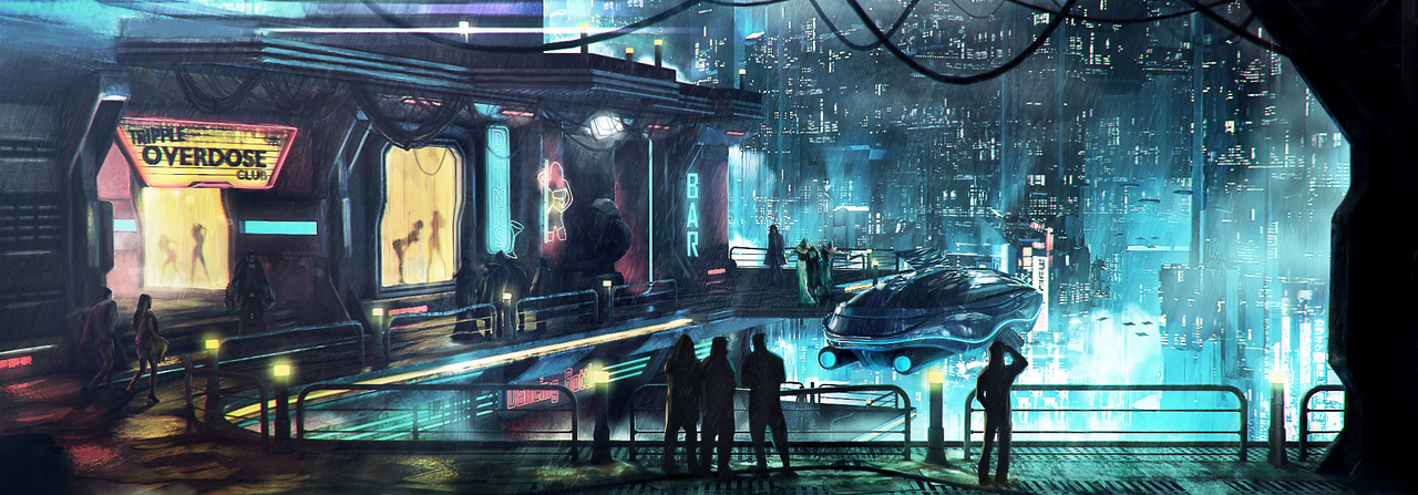 cyberpunk district by macdrab