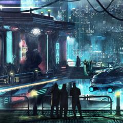 cyberpunk district by macdrab