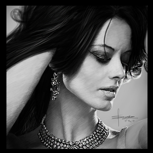 Portrait Of Dijana by satyaki