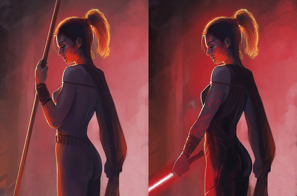 amazon and sith portrait by kelvinliew