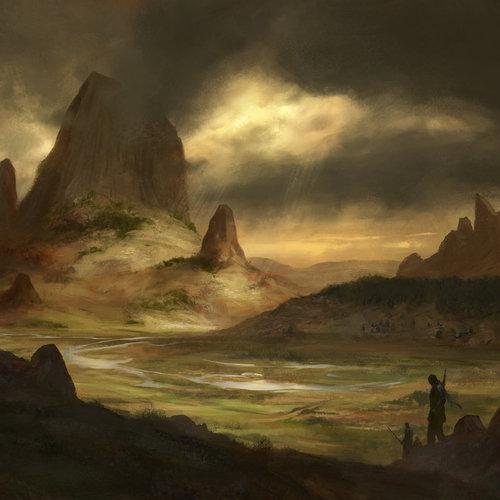Golden Landscape by lightwave