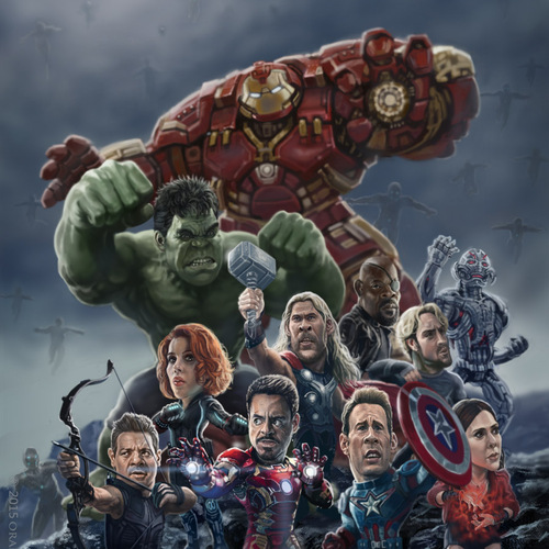 The Avengers 2 Caricature by orangebuddhas