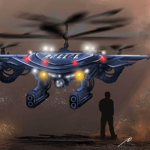 Riot Police Drone by joedarkbugg