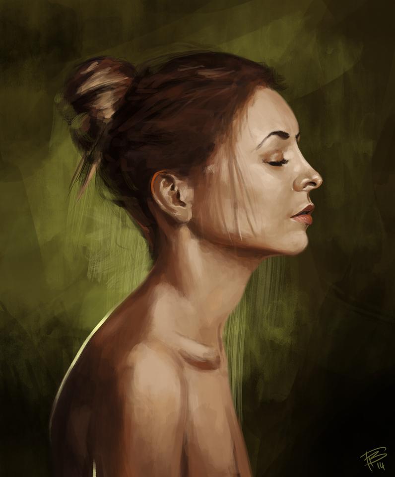 portrait study 1 by thomasbignon