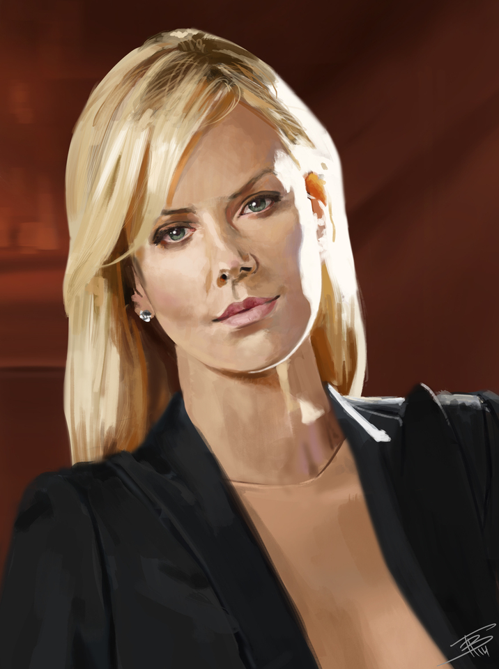 charlize theron study by thomasbignon