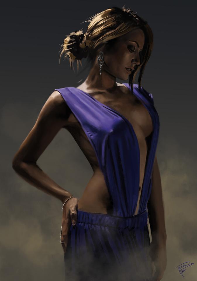 the blue dress by thomasbignon