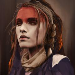 red forehead by thomasbignon