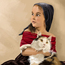 girl an the cat by arko