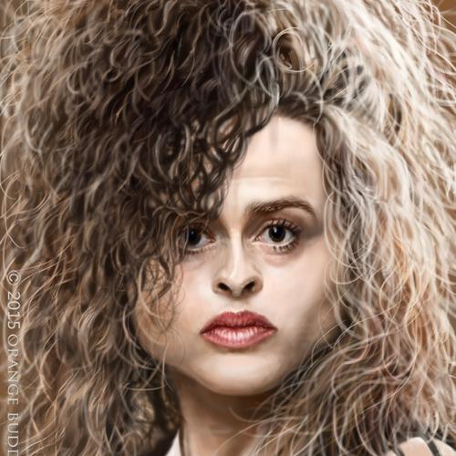 Helena Bonham Caricature by orangebuddhas