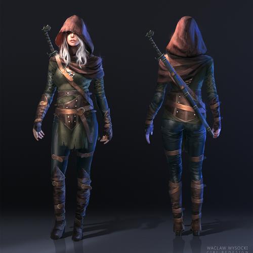 The Witcher 3 Ciri Fanart by wwysocki