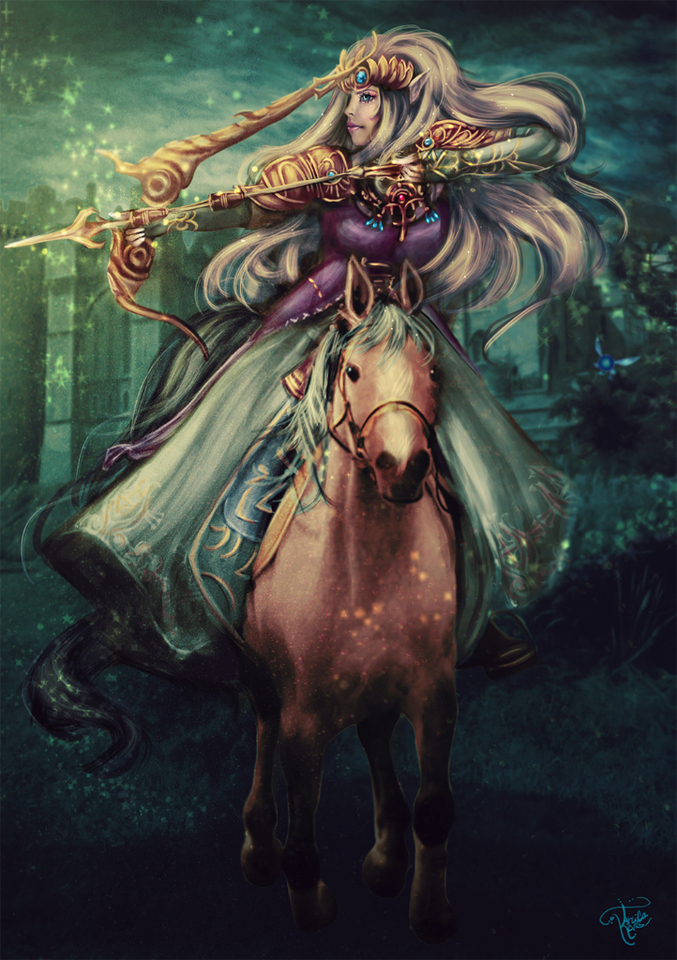 princess zelda by tarcilaneves