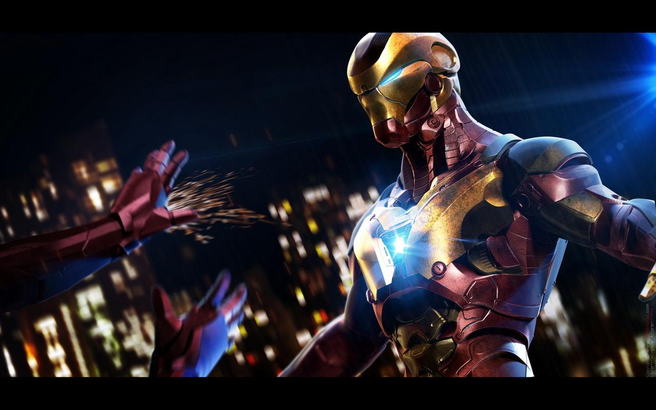 iron man in battle by mh.attaran