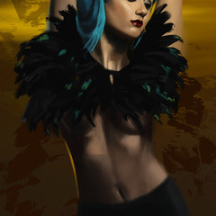 blue hair girl by thomasbignon