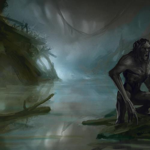 Swamp Wolf Beast by blewzen