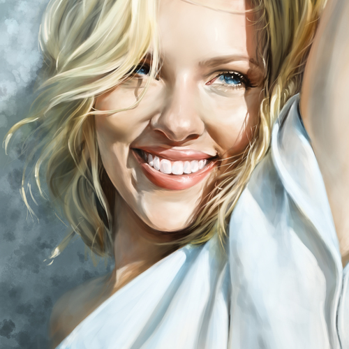 Scarlett Johansson Portrait by catherinesteuer