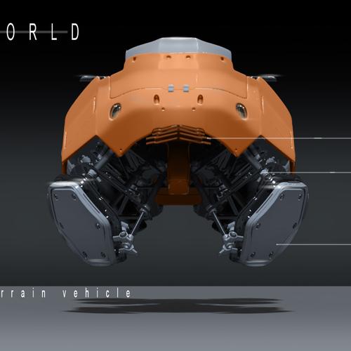 Symbiont World   Hover Bike 0001 by przemek.duda