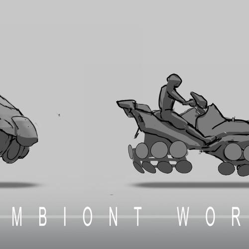 Symbiont World   Hover Bike Sketches by przemek.duda