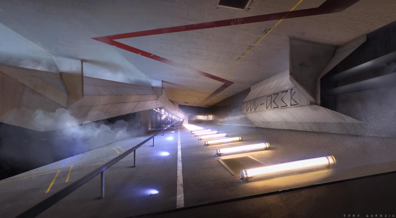 scifi corridor by edonguraziu