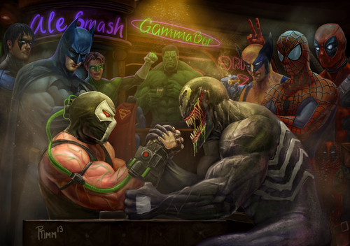 Bane Vs Venom by Andy Timm