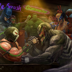 bane vs venom by ptimm
