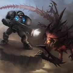raynor vs diablo by douglasderi