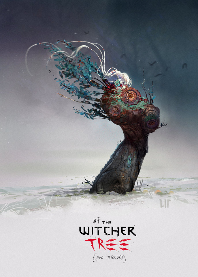 witcher tree by lipcomarella
