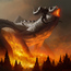 forest fire by alexson