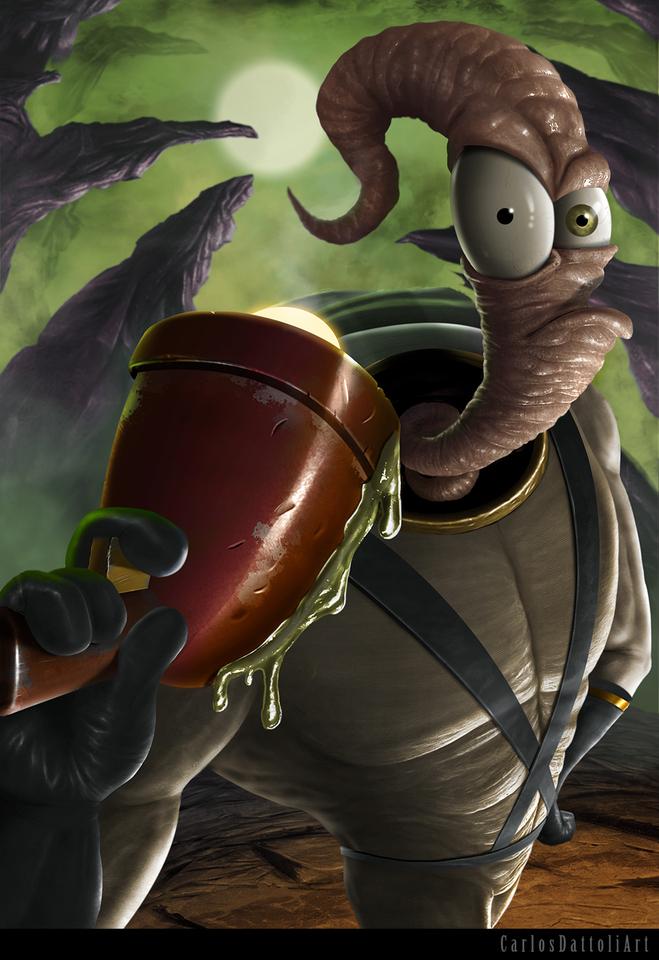 earthworm jim by carlosdattoli