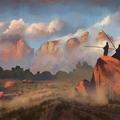 desert sunset by jbdesign