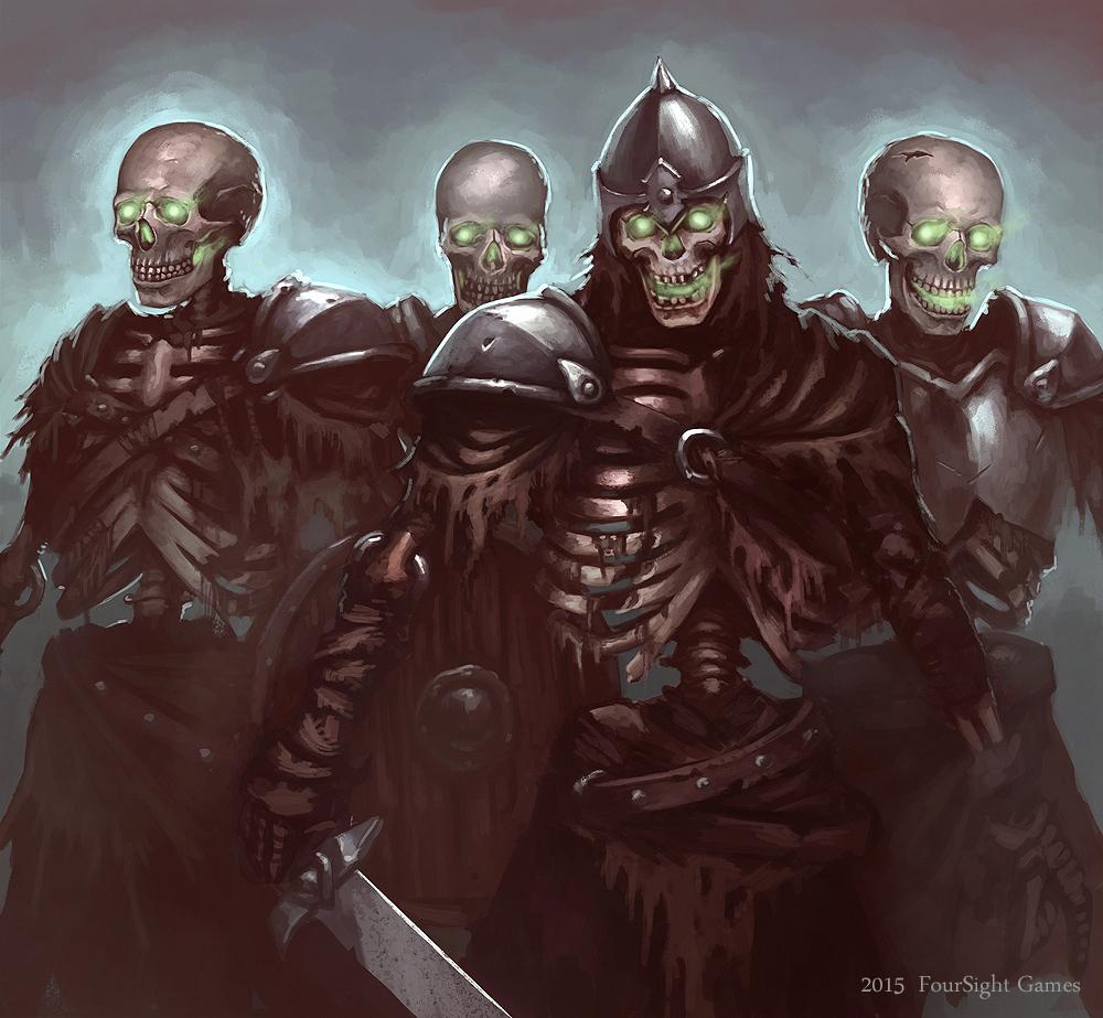 skeleton army by artdeepmind