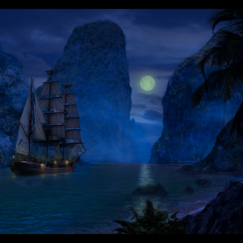 Pirates   Sails In The Mist by zeek