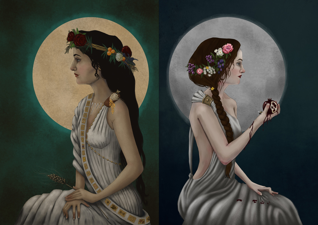 demeter and persephone by gemmazoejones
