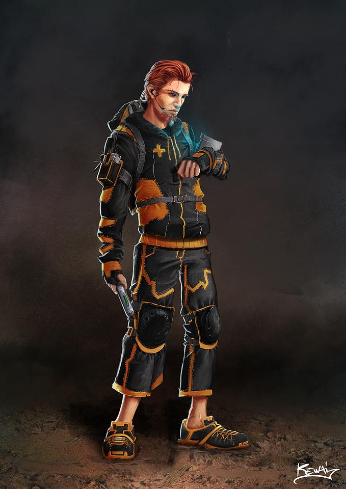 yulin character design by kewai