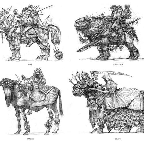 4 Horsemen Of The Apocalypse by davidgau