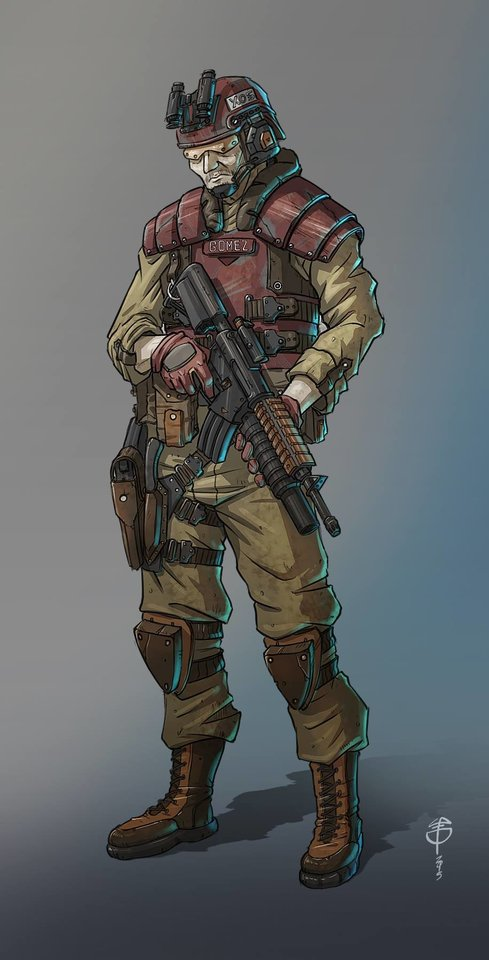 special force soldier by loperacano