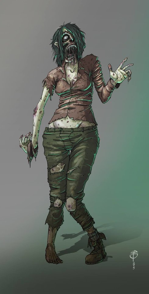 zombie girl by loperacano