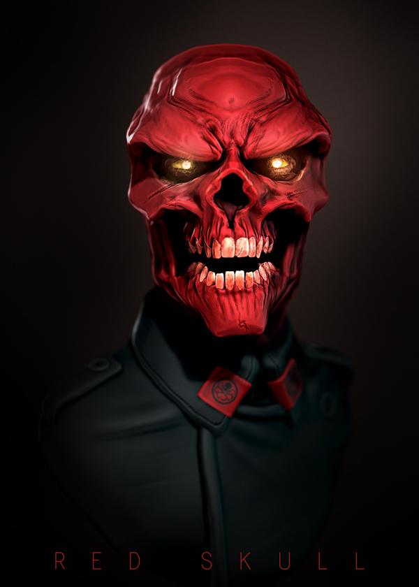 red skull by ljsketch