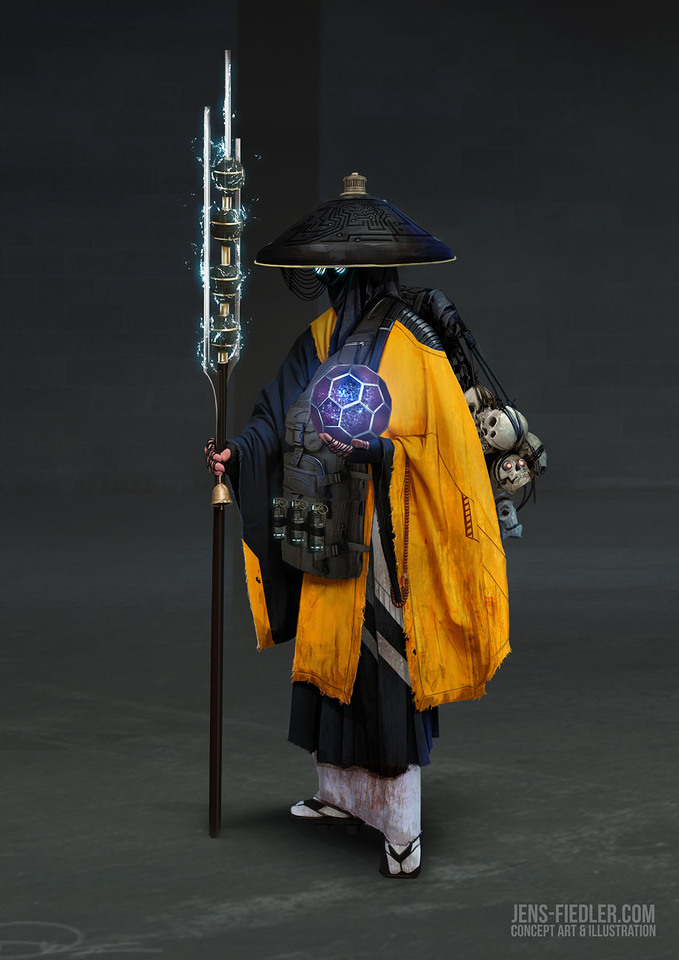 cyber priest by jensfiedler