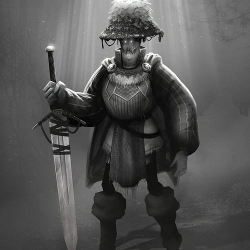 Mushroom Knight by jensfiedler