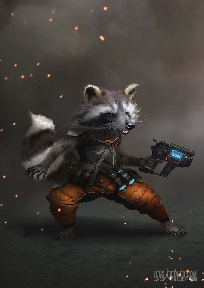 rocket raccoon by jensfiedler