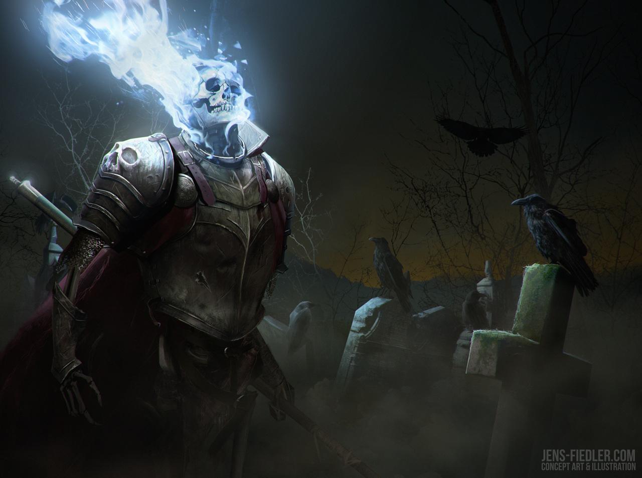 graveyard guard by jensfiedler