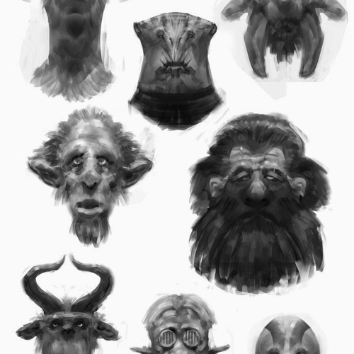 Face Sketches by davidgau