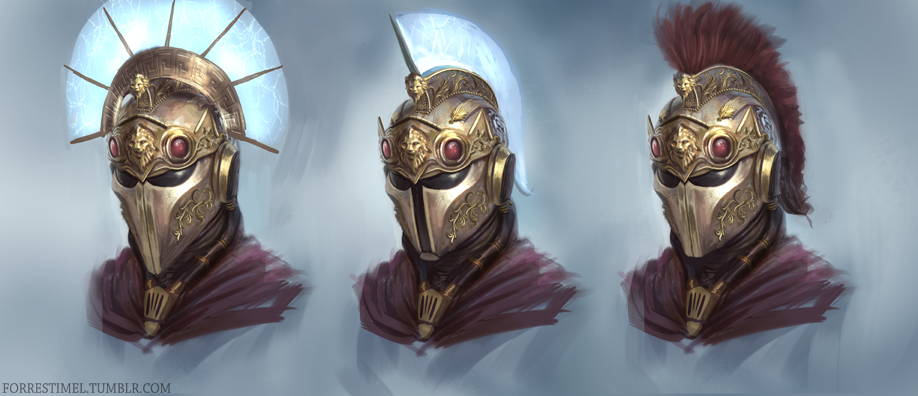 greek sci-fi helmet by forrestimel