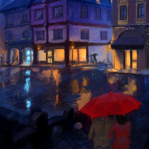 Red Umbrella by gregogr