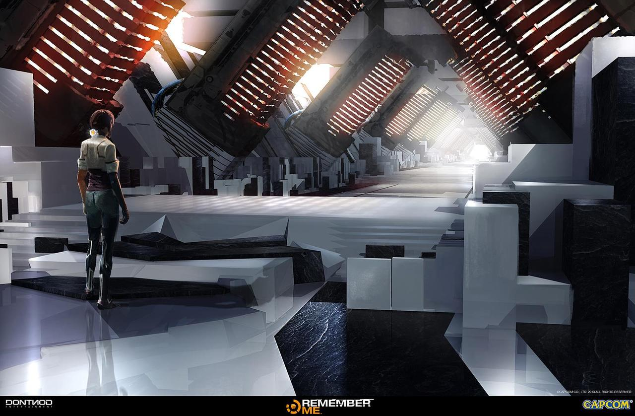 remember me - server corridor concept by garyjamroz
