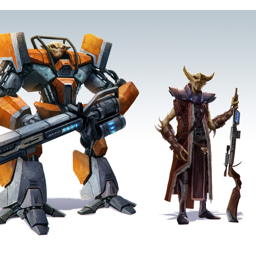 Alien Bounty Hunters by pinkhavok