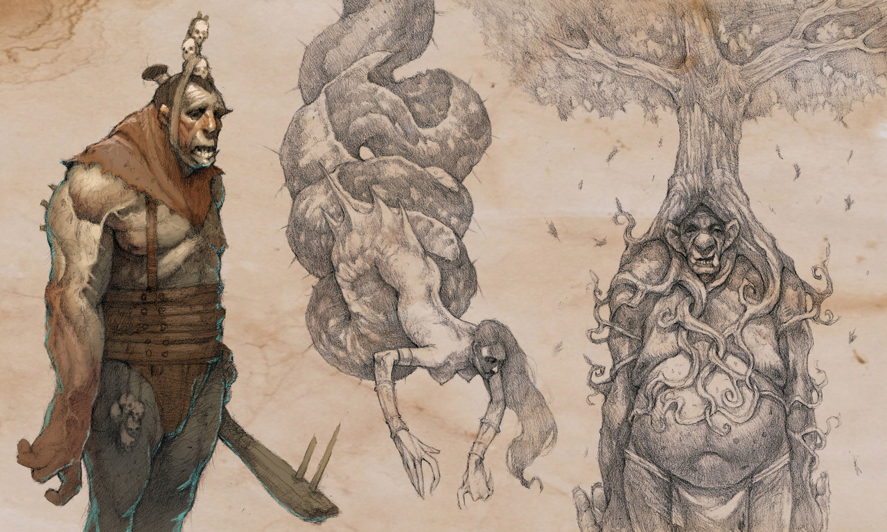 creature sketches by gary_laib