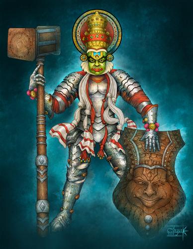 Display jumbo southindian warrior