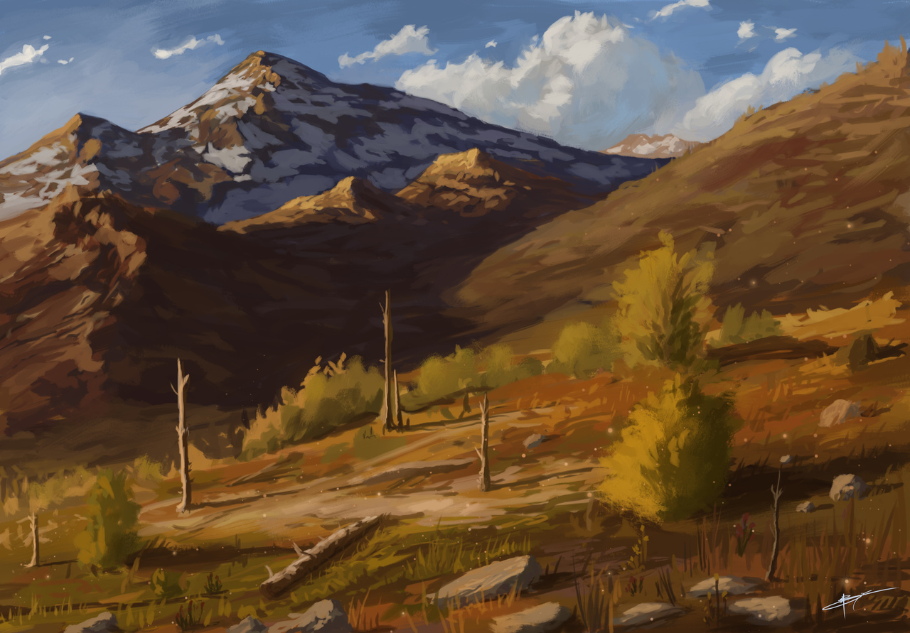 mountain hills by banecrafts